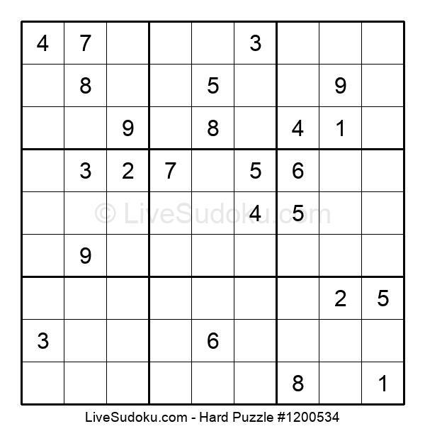 Hard Puzzle #1200534