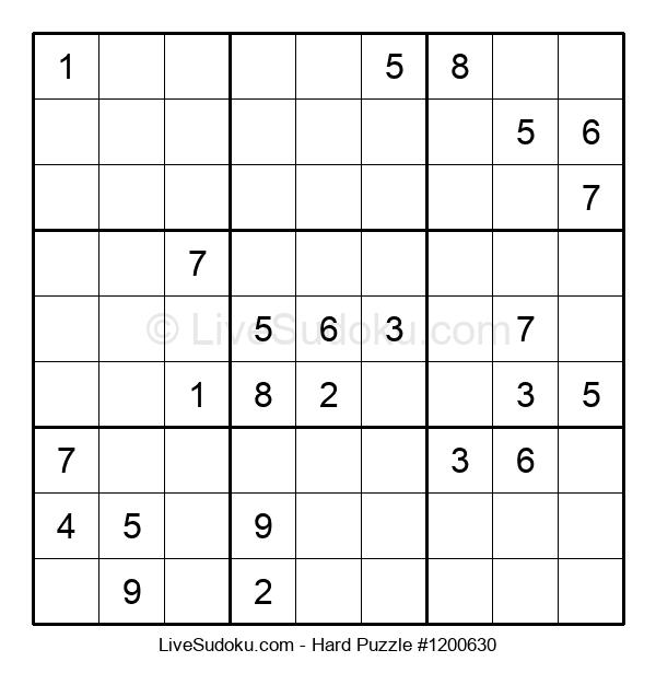 Hard Puzzle #1200630