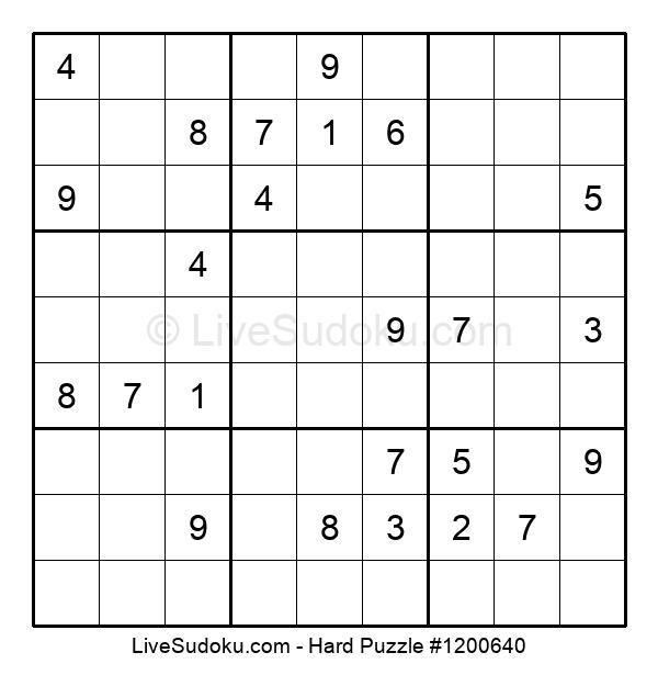 Hard Puzzle #1200640
