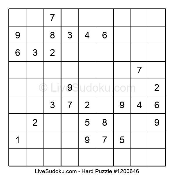 Hard Puzzle #1200646