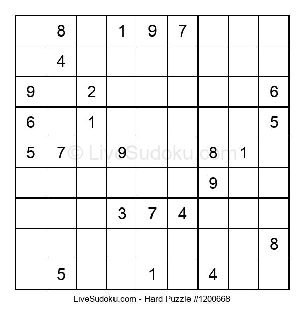 Hard Puzzle #1200668