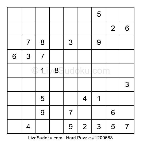 Hard Puzzle #1200688