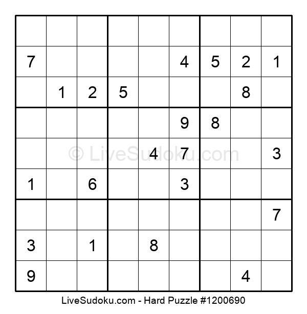 Hard Puzzle #1200690