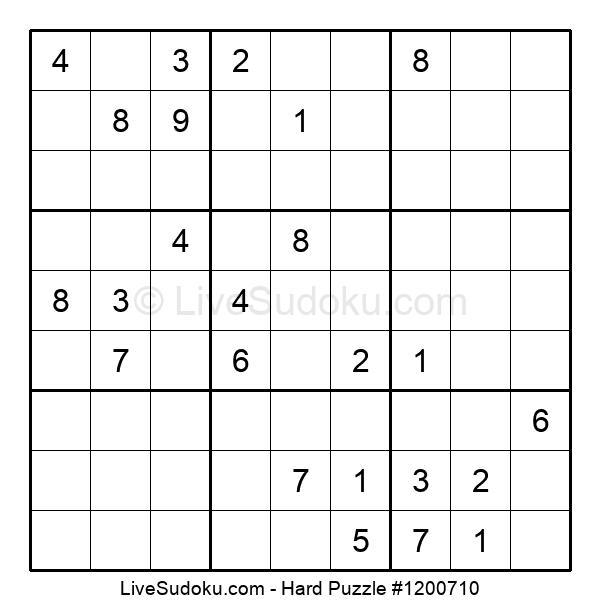 Hard Puzzle #1200710