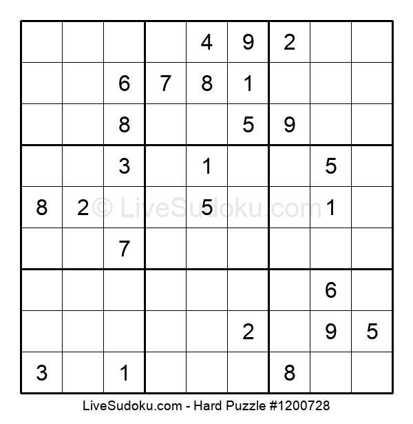 Hard Puzzle #1200728