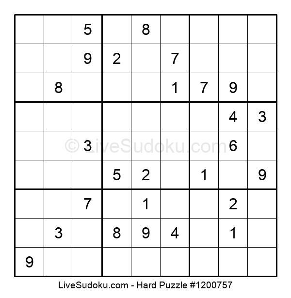 Hard Puzzle #1200757