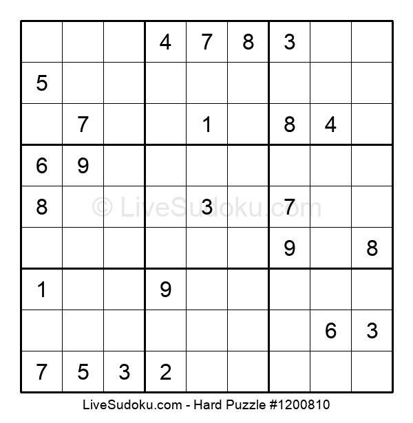 Hard Puzzle #1200810