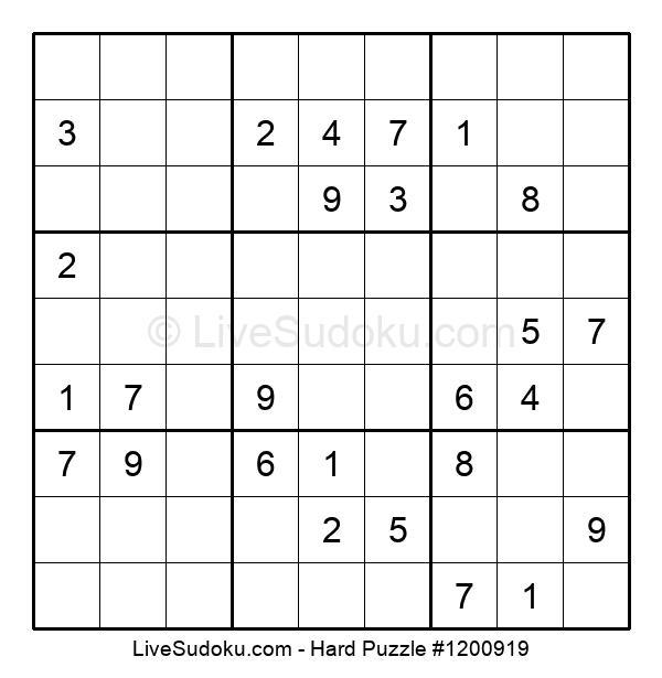 Hard Puzzle #1200919