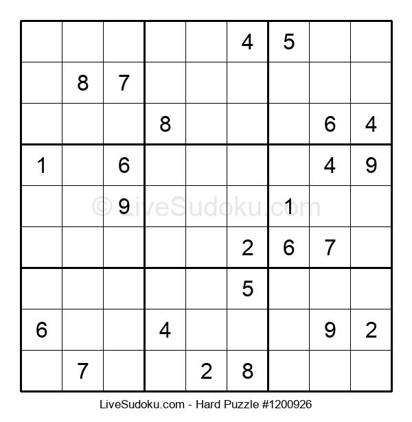 Hard Puzzle #1200926