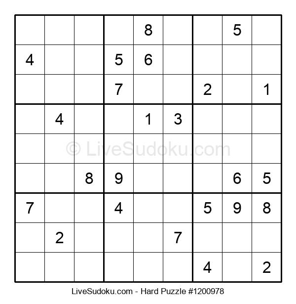 Hard Puzzle #1200978