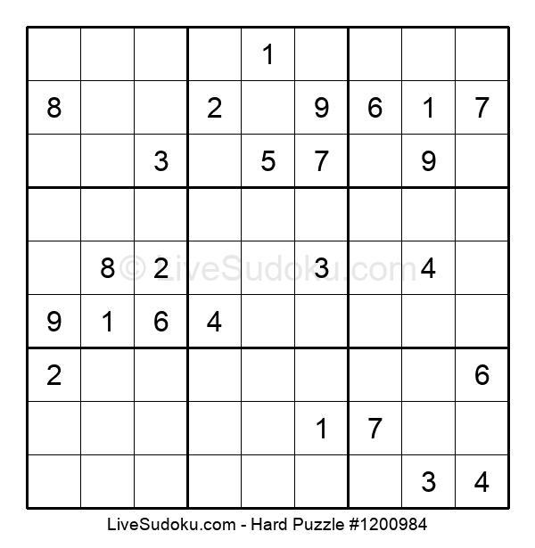 Hard Puzzle #1200984