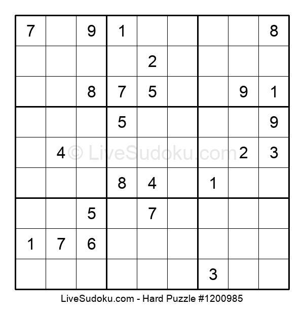 Hard Puzzle #1200985