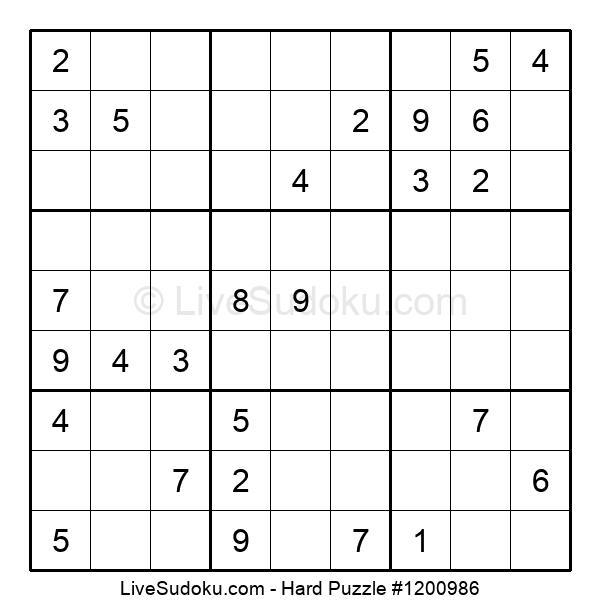 Hard Puzzle #1200986