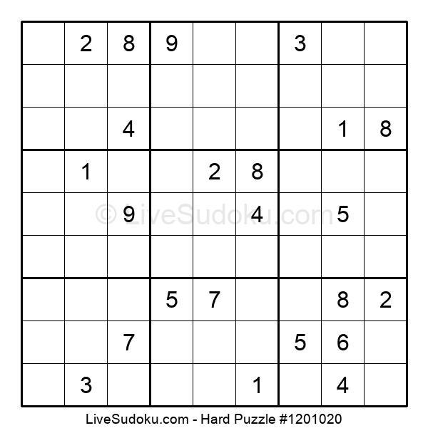 Hard Puzzle #1201020