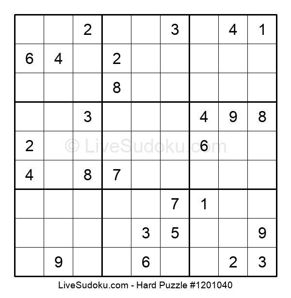 Hard Puzzle #1201040