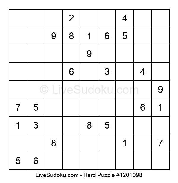 Hard Puzzle #1201098