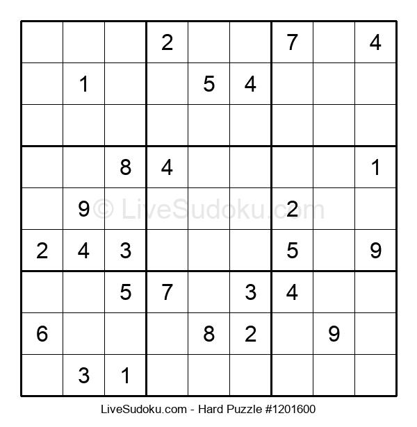 Hard Puzzle #1201600