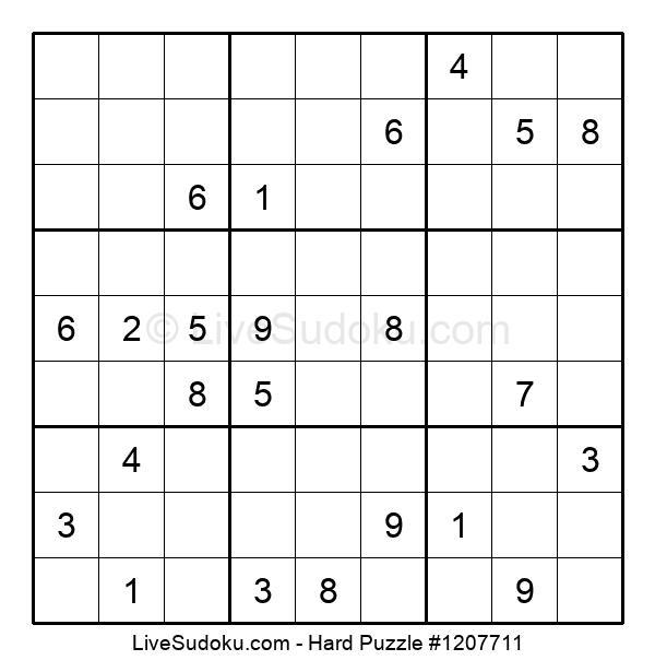 Hard Puzzle #1207711