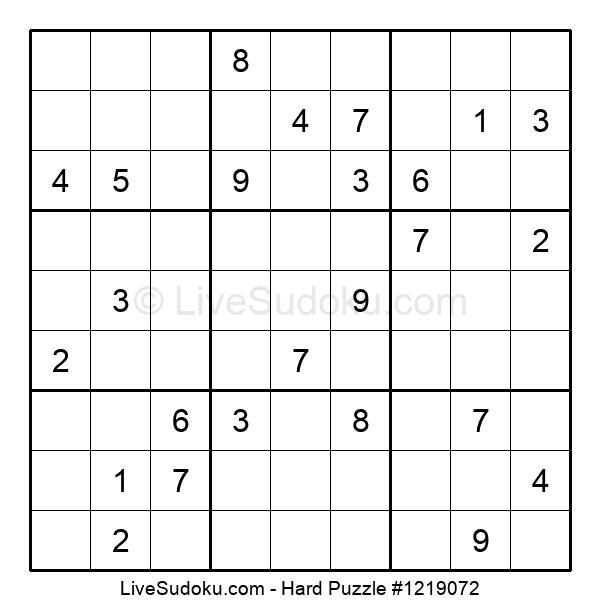 Hard Puzzle #1219072