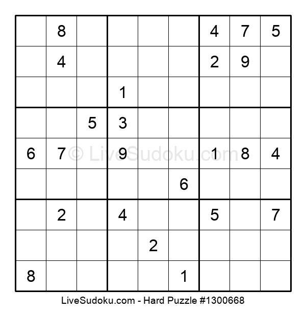 Hard Puzzle #1300668