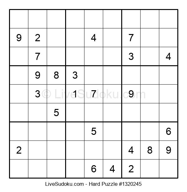 Hard Puzzle #1320245