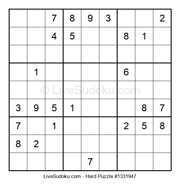 Hard Puzzle #1331947