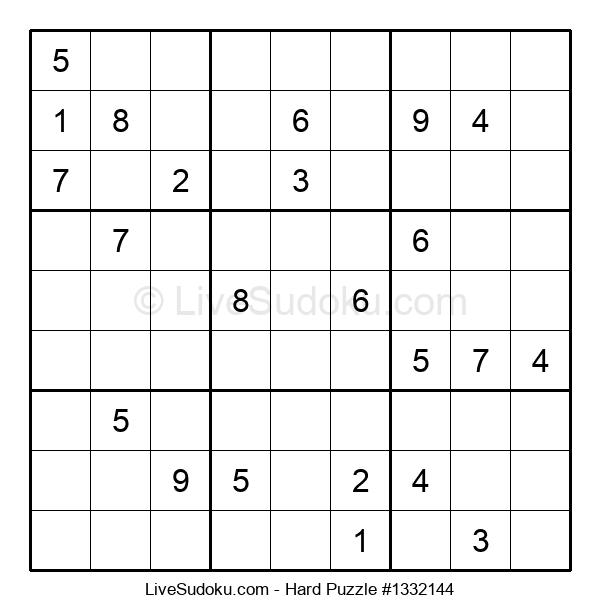 Hard Puzzle #1332144
