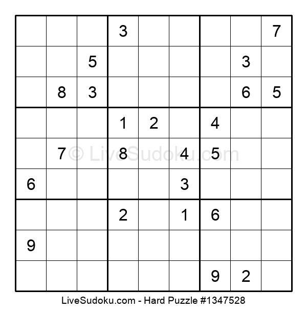 Hard Puzzle #1347528