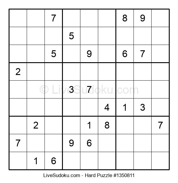 Hard Puzzle #1350811