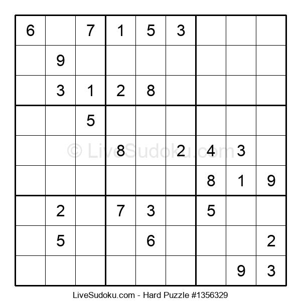Hard Puzzle #1356329