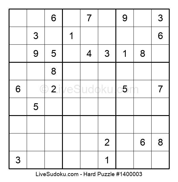 Hard Puzzle #1400003