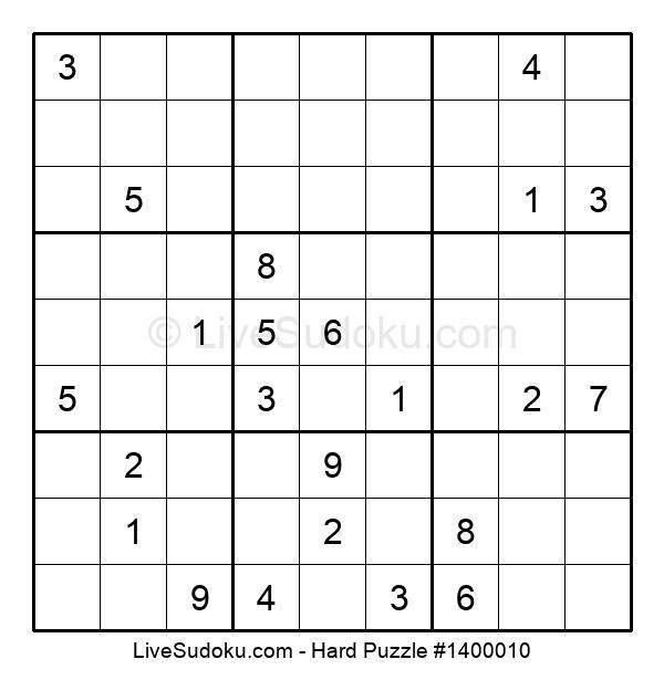 Hard Puzzle #1400010