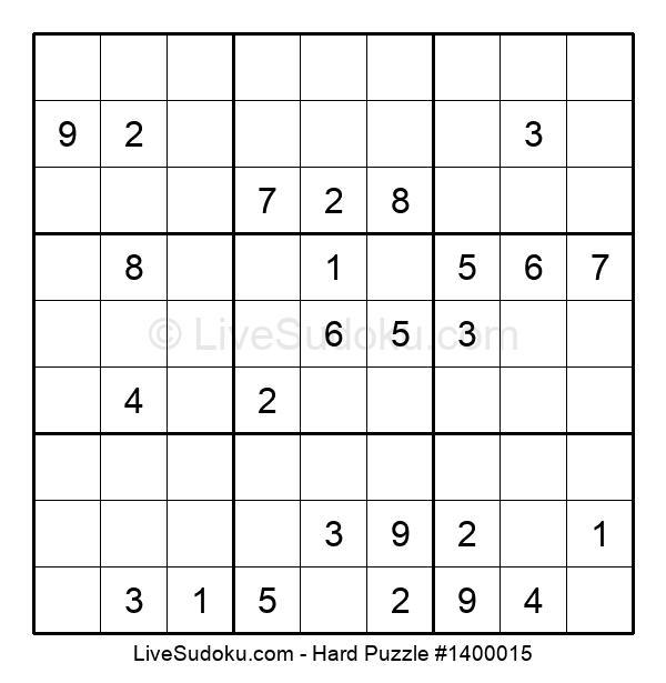 Hard Puzzle #1400015