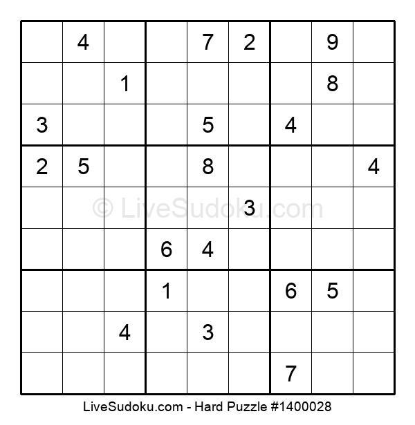 Hard Puzzle #1400028
