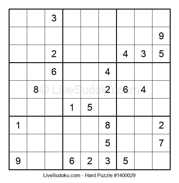 Hard Puzzle #1400029
