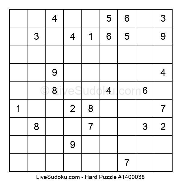 Hard Puzzle #1400038