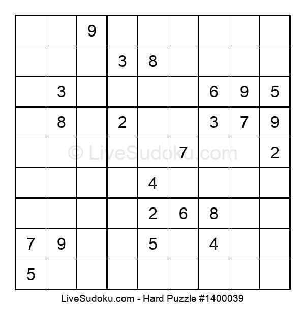 Hard Puzzle #1400039