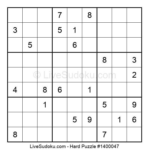 Hard Puzzle #1400047
