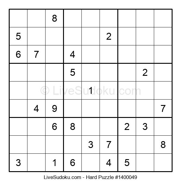 Hard Puzzle #1400049