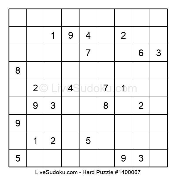 Hard Puzzle #1400067