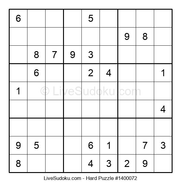 Hard Puzzle #1400072