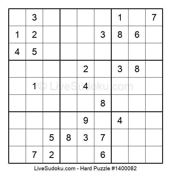 Hard Puzzle #1400082