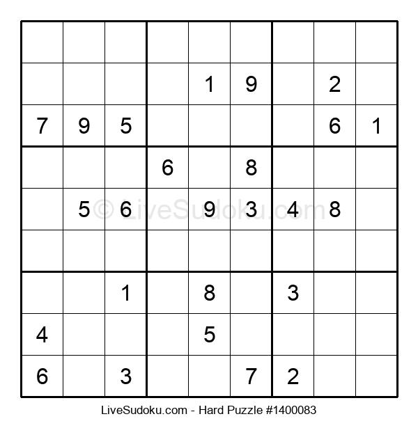 Hard Puzzle #1400083