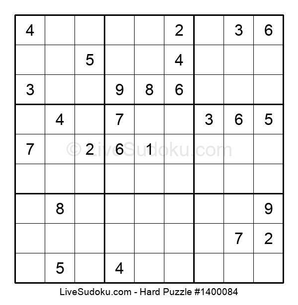 Hard Puzzle #1400084