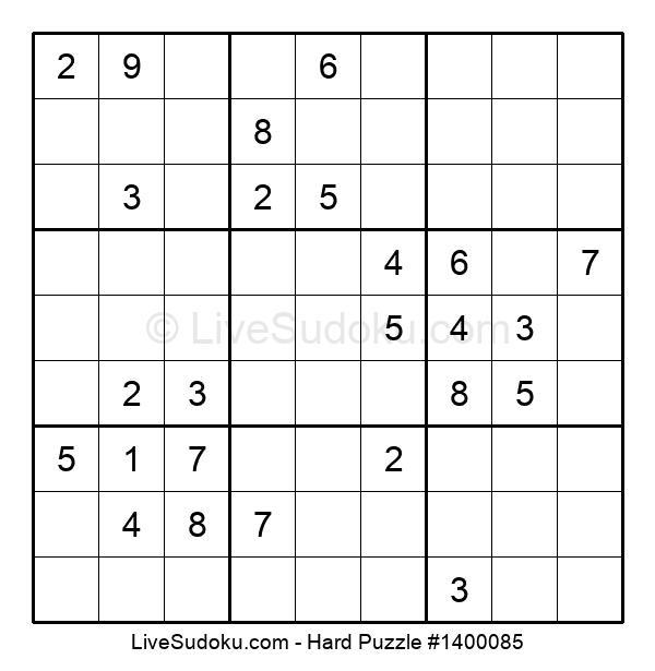 Hard Puzzle #1400085