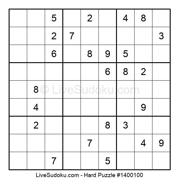 Hard Puzzle #1400100