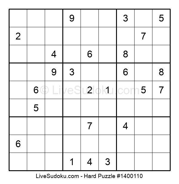 Hard Puzzle #1400110