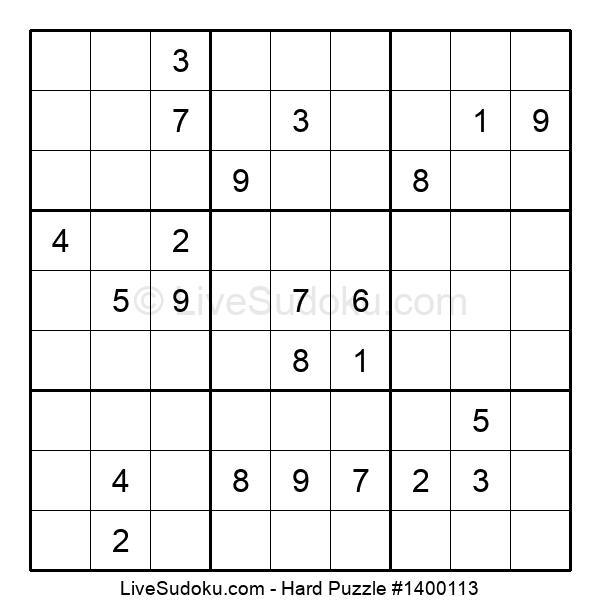 Hard Puzzle #1400113