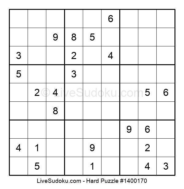 Hard Puzzle #1400170
