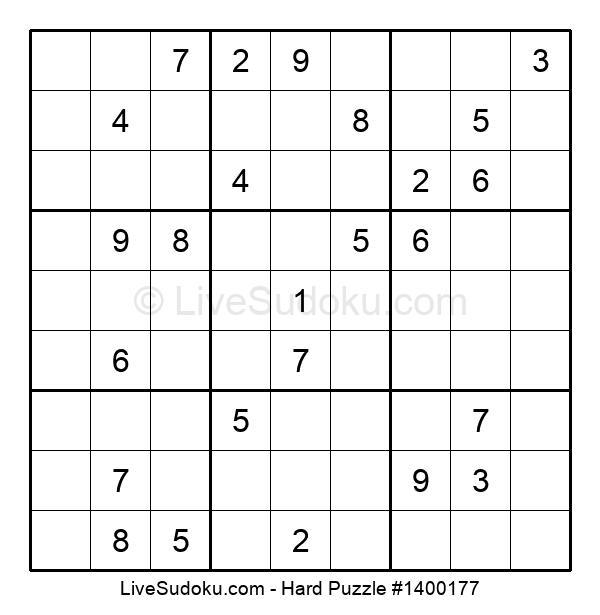 Hard Puzzle #1400177